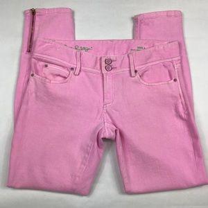 Lilly Pulitzer | Worth Skinny Mini Zip Jean Size 4